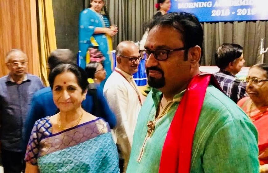 Dr. Nagendra Shastry with Sangeetha Kalanidhi Vid. Aruna Sairam