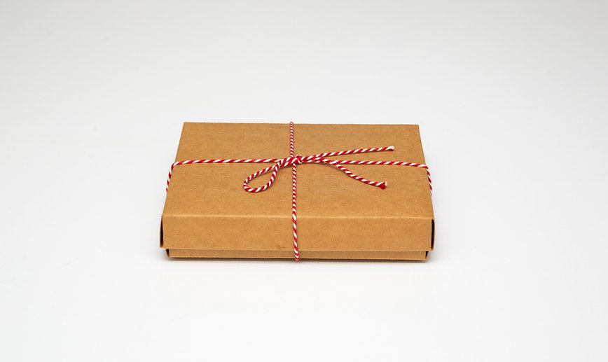 gift box on top view, isolated white bac