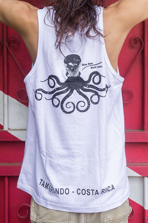 Man T-shirt Olympic Octopus White