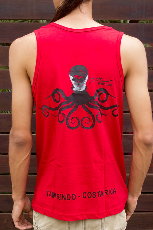 Man T-shirt Olympic Octopus Red