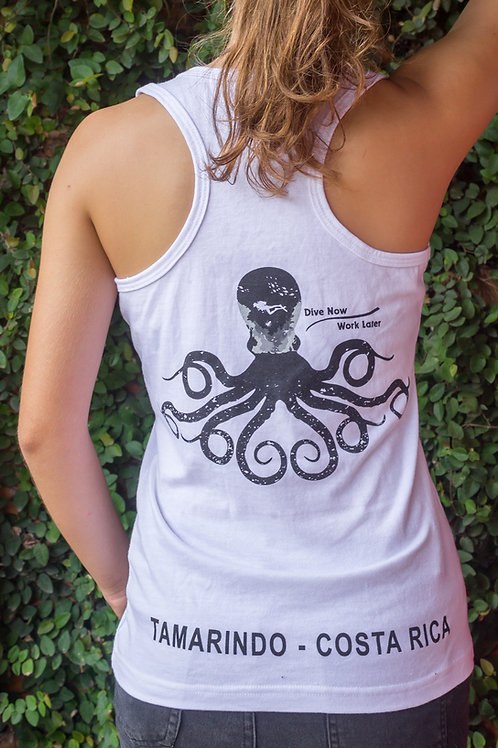 Woman T-shirt Olympic Octopus White
