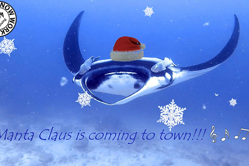 Manta Claus is coming to town