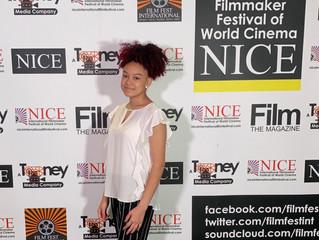 Mya Miller representing the team in Nice, France