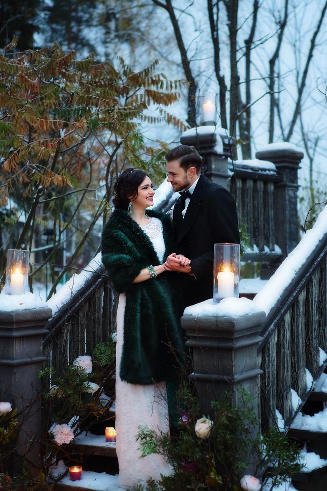 зимняя свадьба в Трувиле