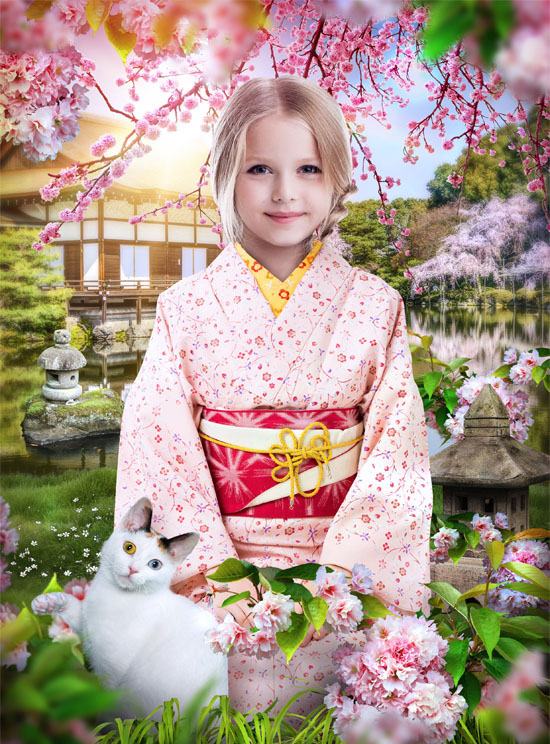 Кимоно костюм
