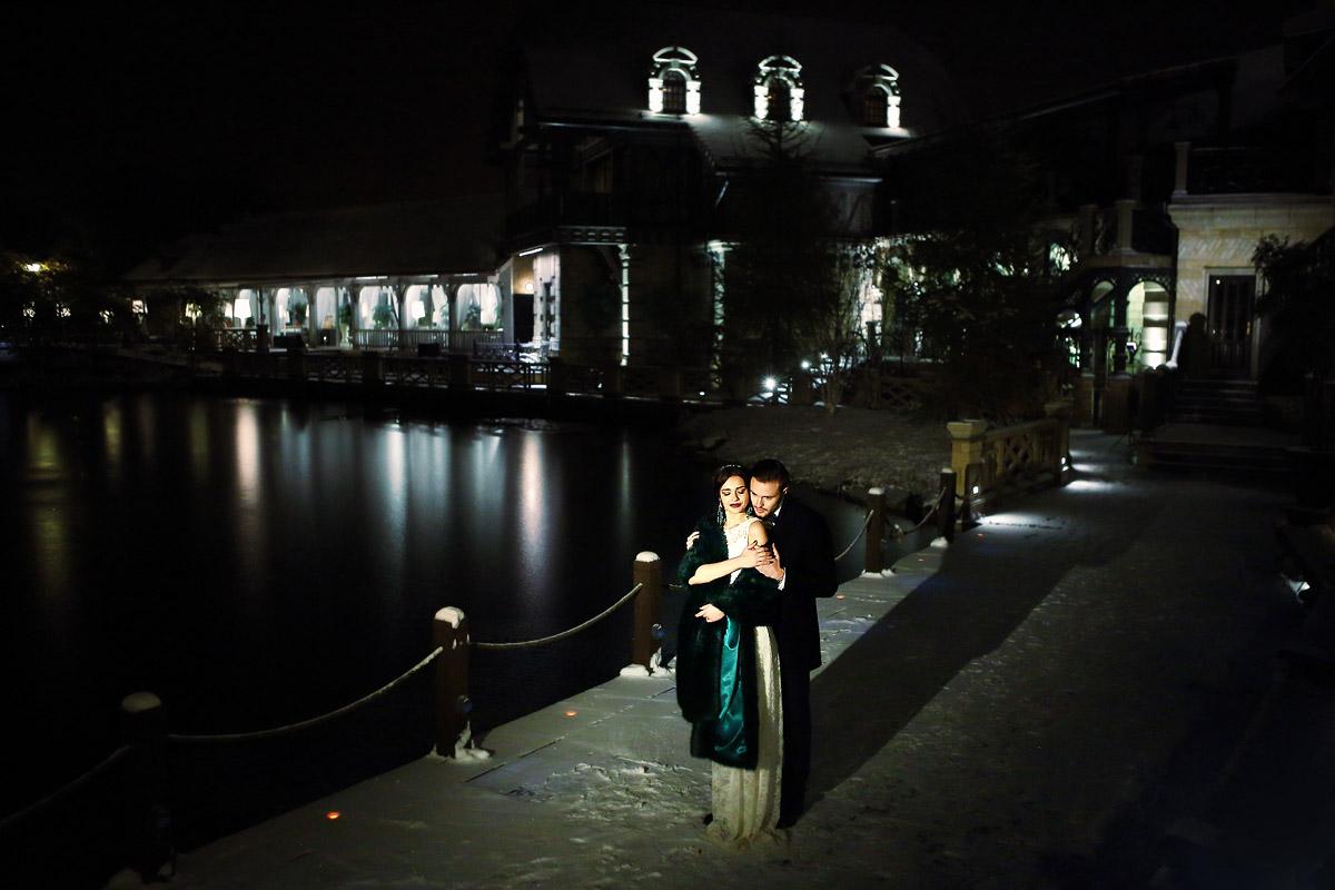 ночная свадебная фотосессия