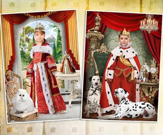 Король и королева костюм