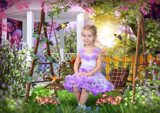В весеннем саду