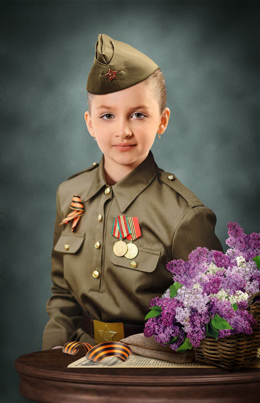 Девочка-солдат костюм