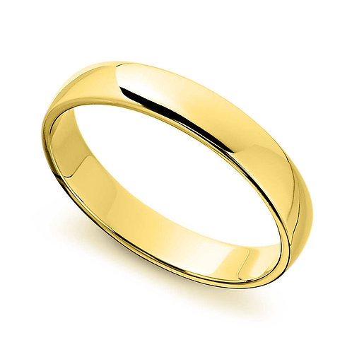14k Yellow Gold 5-mm Standard-fit Polished Wedding Band