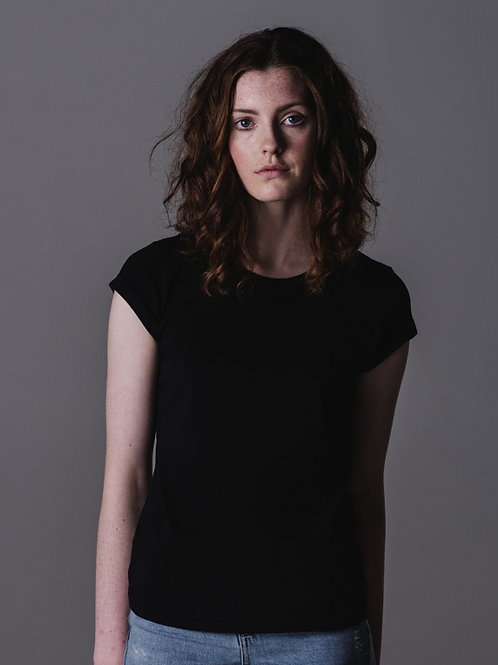 T-shirt damski Roll Sleeve T