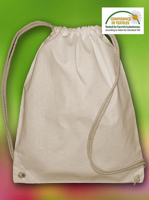 Plecak ze sznurkiem z bawełny organicznej