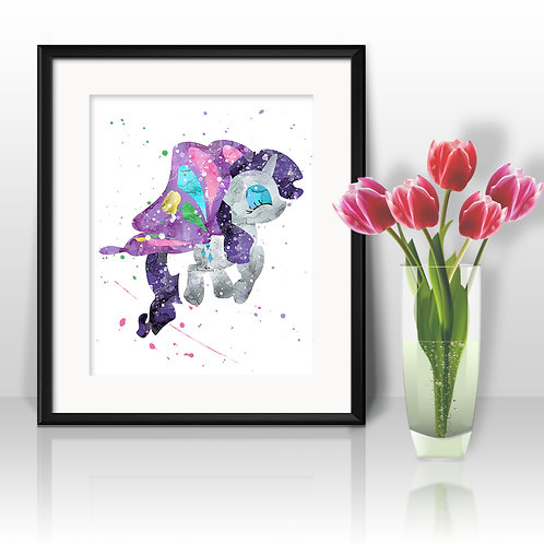 Rarity My Little Pony art print, My Little Pony Art, My Little Pony Poster, My Little Pony Painting, My Little Pony Printable