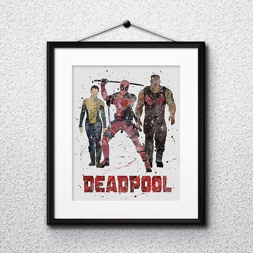 Superhero Deadpool Art, Deadpool Poster, Deadpool Painting, Deadpool Wall Art, Superhero art print
