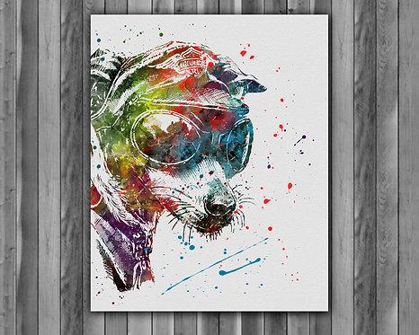 Vintage Dog art Instant Download, Printable, Vintage Dog Print, Vintage Dog Painting, Poster, Fox Boho Wall Art
