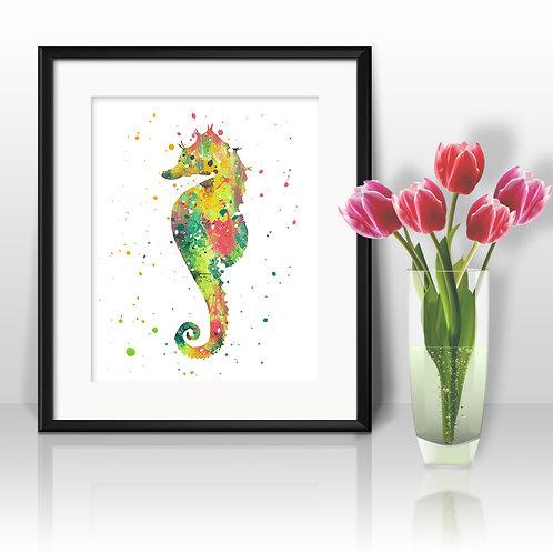 Dwarf Seahorse Art Print, buy art, buy digital image, buy painting, buy wall art, buy poster, buy watercolor painting