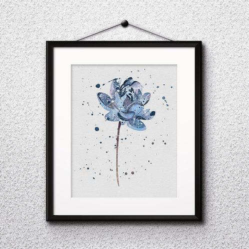 Blue flowers art, Blue flowers art Prints, Blue flowers Posters, Blue flowers watercolor, Blue flowers wall art