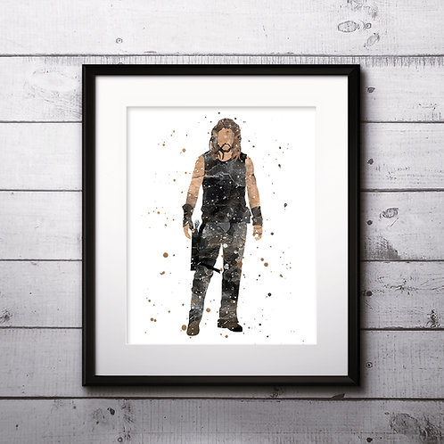 Superhero Ronon Dex - Stargate Atlantis Art Print, Watercolor Print, Wall Art, instant download