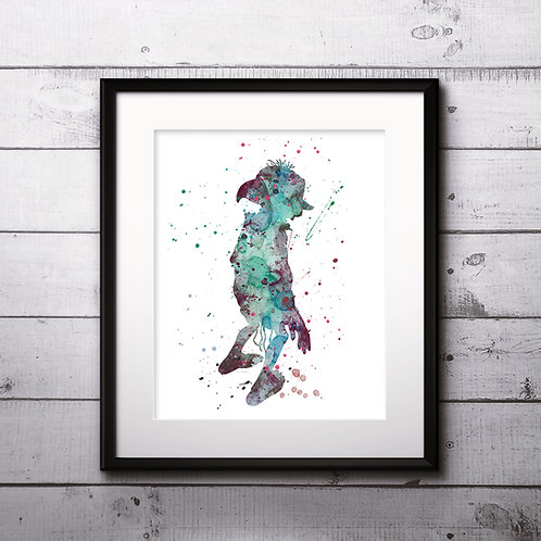 Harry Potter Poster - Dobby watercolor, Art Print, instant download, Watercolor Print, poster
