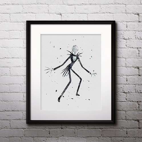 Jack Skellington The Nightmare Before Christmas art prints, print, buy painting, buy art, instant download art, Wall Art, art