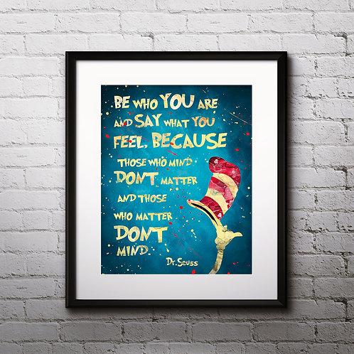 Doctor Seuss Art Prints Doctor Seuss Digital Poster Doctor Seuss Home Decor watercolor art print