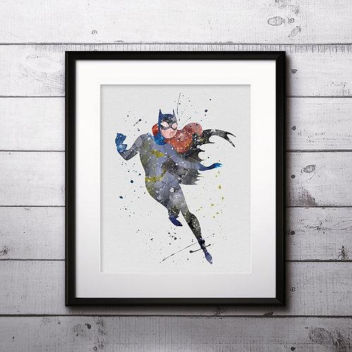 Superhero Batgirl Print Nursery, buy Poster, buy Watercolor Painting, buy Print, buy  Art, buy Wall Art, Watercolor Nursery A