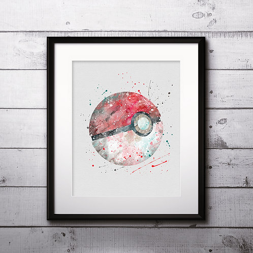 Poké Ball Anime art, Poké Ball Poster, Poké Ball Painting, Poké Ball Art Print, Poké Ball home decor, Poké Ball Wall Art, Pok
