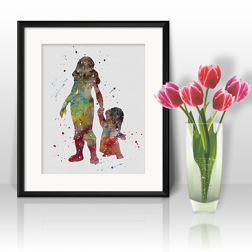 Lilo & Stitch Art, Watercolor Printable, Print, Painting, Home Decor, Wall Art Poster, buy poster, buy print