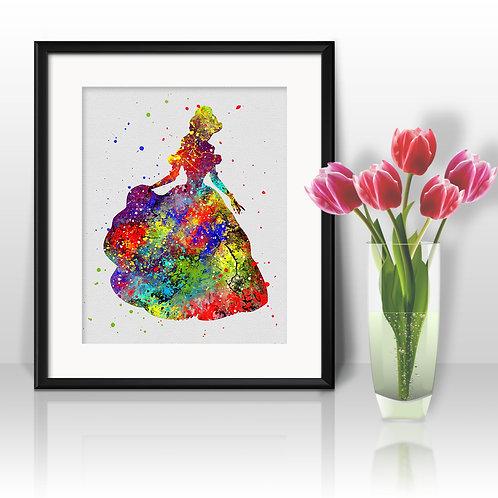 Disney Belle art Prints, Disney Belle Posters, Disney Belle watercolor, Disney Belle wall art, Disney Belle home decor, Art