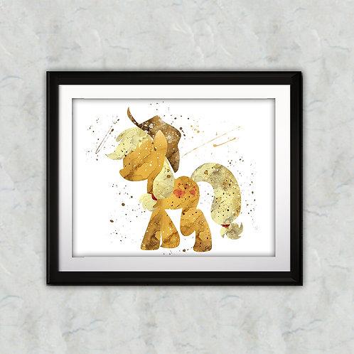 Pony Applejack Printable art, My Little Pony Art, My Little Pony Poster, My Little Pony Painting, My Little Pony art print