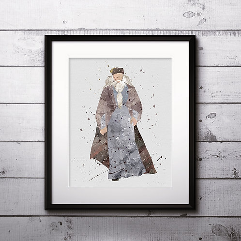 Albus Dumbledore Harry Potter Art, Harry Potter Poster, Harry Potter Painting, Harry Potter Art Print, Harry Potter Wall Art