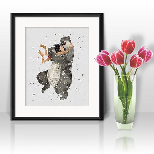 The Jungle Book Disney Art Prints Instant Download Printable Watercolor Art Nursery Prints Painting Poster Home Decor
