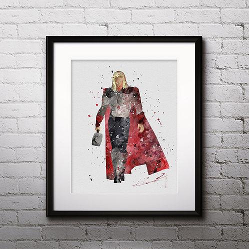 Superhero Thor Print Nursery, buy Poster, buy Watercolor Painting, buy Print, buy  Art, buy Wall Art, Watercolor Nursery Art,