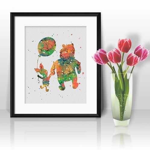 Winnie the Pooh art Prints, Winnie the Pooh Posters, Winnie the Poohwatercolor, Winnie the Pooh wall art, Winnie the Pooh art