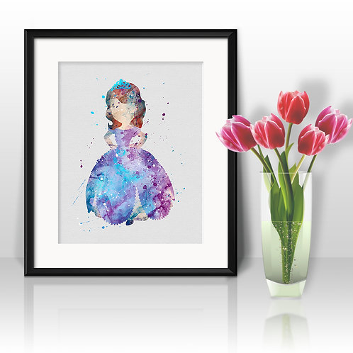 Princess Sofia Poster, Sofia the First 2 - watercolor, Art Print, instant download, Watercolor Print, poster