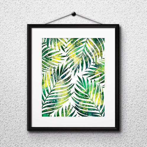Tropical Leaves art, Tropical art Prints, Tropical Poster, Tropical home decor, Tropical wall art, Tropical watercolor