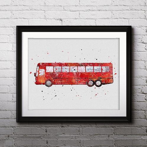 Ikarus Bus Print, Nursery Wall Art, Ikarus Bus Decor, Ikarus Bus, Transportation Wall Art, Ikarus Bus Wall Decor