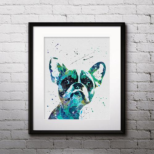 French Bulldog Art Print, dog watercolor Print, dog poster, dog Wall Art, dog Wall Decor, dog art, French Bulldog dog art