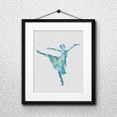 Ballerina Wall Art, Ballerina Print, Ballerina Poster, Ballerina Painting, Ballerina art, Ballerina home decor