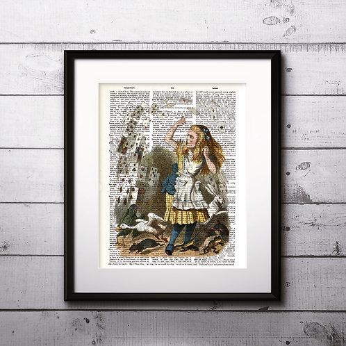 Alice in Wonderland Vintage Dictionary Art Prints Digital Poster Home Decor mixed media art print