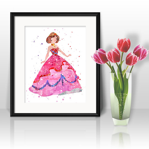 Princess Nursery Art Prints, Posters, Watercolor Art, Wall Art, Home Decor, Printable Art, Art Prints, Painting