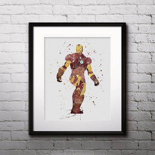 Superhero Ironman Art,  Ironman Poster, Ironman Painting, Ironman Art Print, Iron Man Wall Art, Iron Man Home Decor, Iron