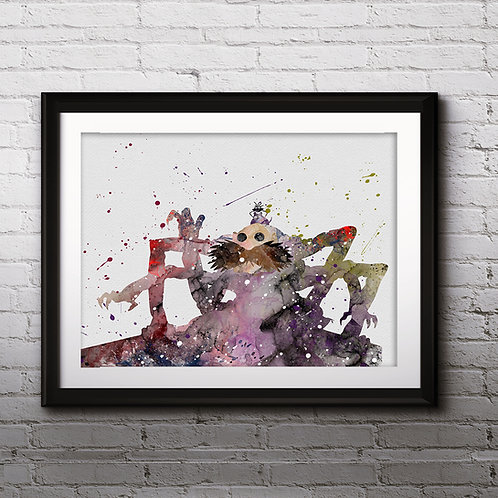 Kamajii, Spirited Away Anime Art, Watercolor Printable, Print, Painting, Home Decor, Wall Art Poster, buy poster, buy print