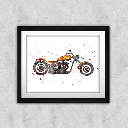 Motorbik Print, Nursery Wall Art, Motorbik Decor, Motorbik, Transportation Wall Art, Boat Wall Decor, Nursery