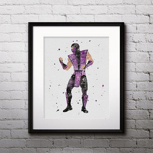 Rain Mortal Kombat wall art prints, printable image, poster, watercolor pinting