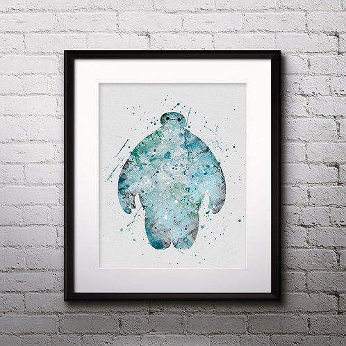 Big Hero 6 Disney art, Disney Poster, Disney Painting, Disney Art Print, Disney home decor, Disney Decor, Disney wall art
