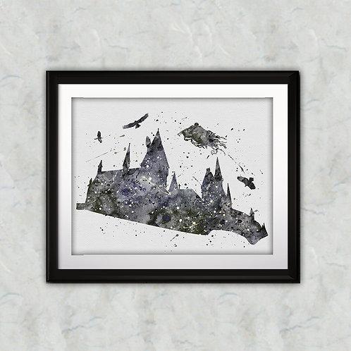 Hogwarts Castle Harry Potter Art, Harry Potter Poster, Harry Potter Painting, Harry Potter Art Print, Harry Potter Wall Art