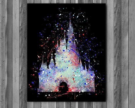 Cinderella Castle Disney art, Castle Disney Poster, Castle Disney Painting