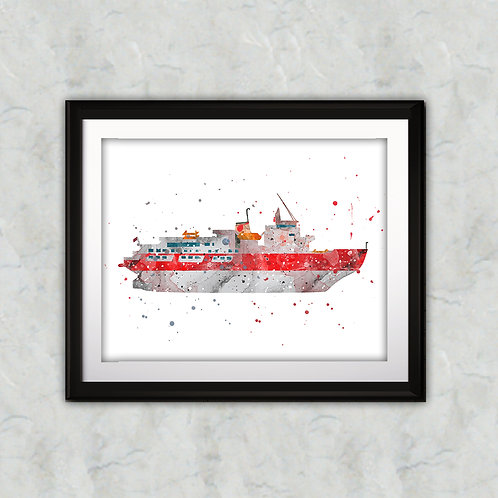 Boat Print, Nursery Wall Art, Nautical Decor, Marine, Transportation Wall Art, Boat Wall Decor, Boat Nursery