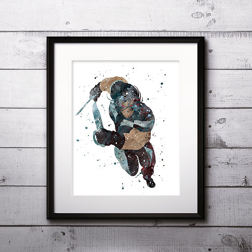 X-Men Warpath - watercolor, Art Print, instant download, Watercolor Print, poster